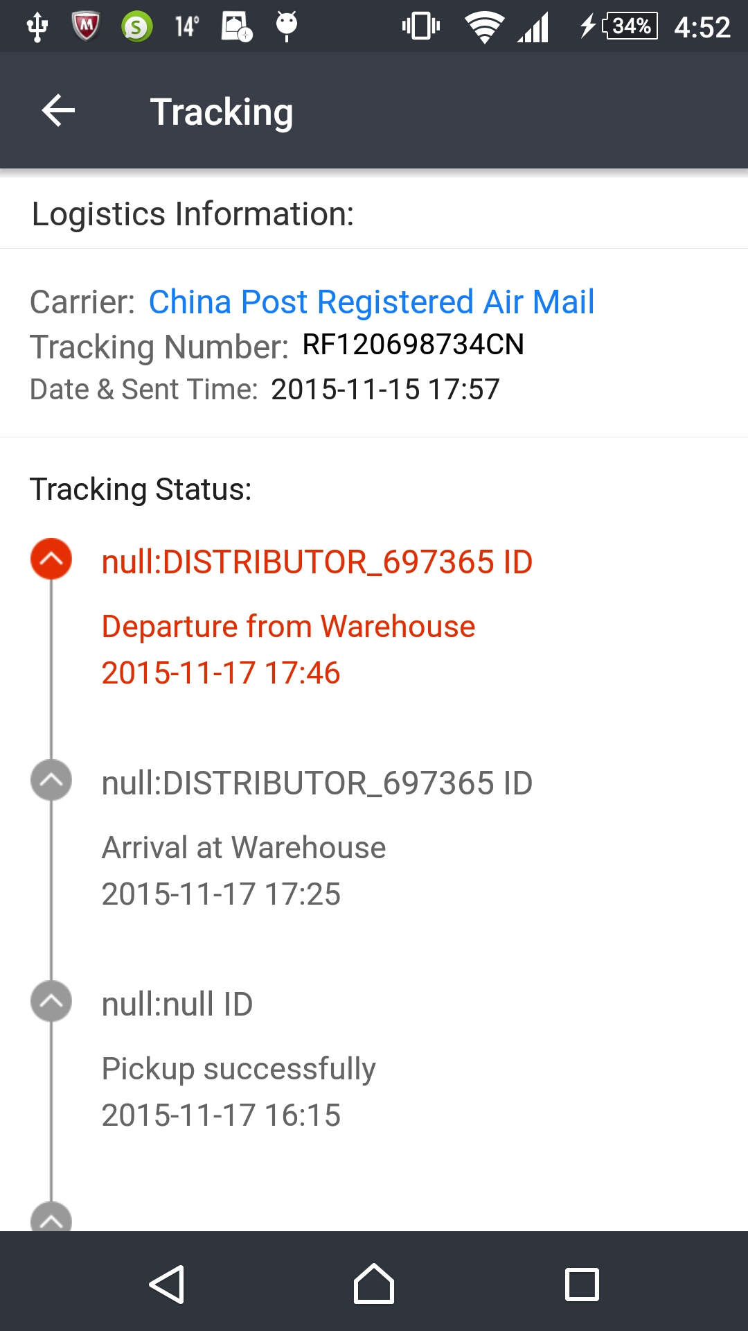 How to track the parcel from China 28